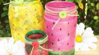 Fruit Decorated Mason Jars
