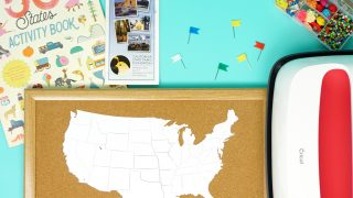 DIY Cork Board Travel Map