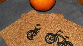 Cork Coasters with HTV