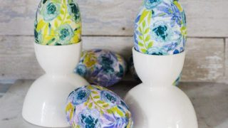 Decoupage Easter Eggs With Napkins