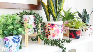 How to Make Easy Mod Podge Flower Pots with Fabric