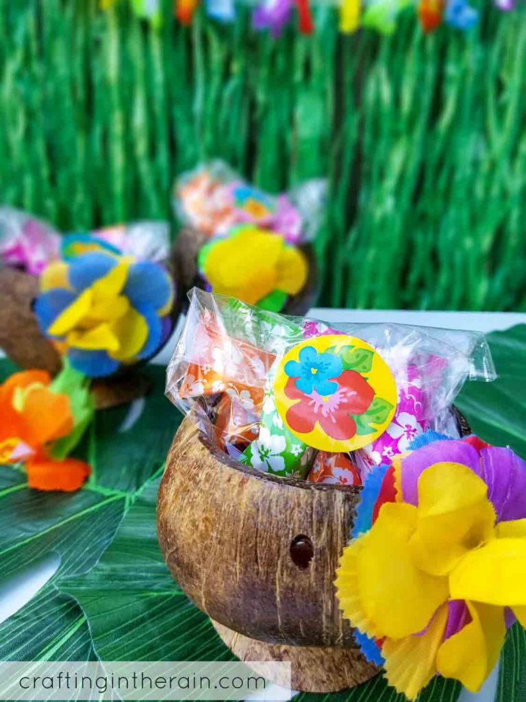 Coconut cup decor idea