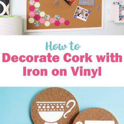 How to Put Iron on Vinyl on Cork