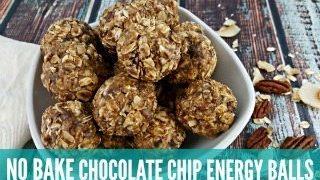 Chocolate Chip No Bake Energy Balls