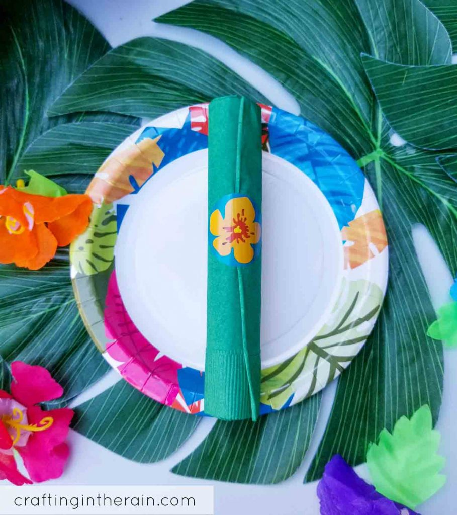 Luau hawaiian napkins