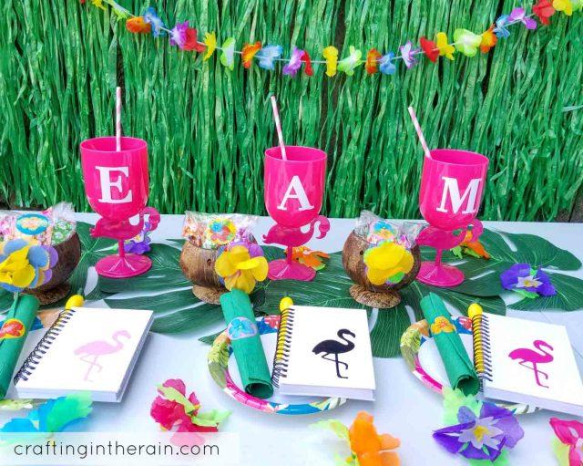 Flamingo luau party