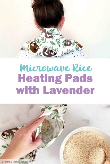 Heating pads with lavender oil