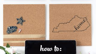 DIY Cork Board Made with Iron On Vinyl