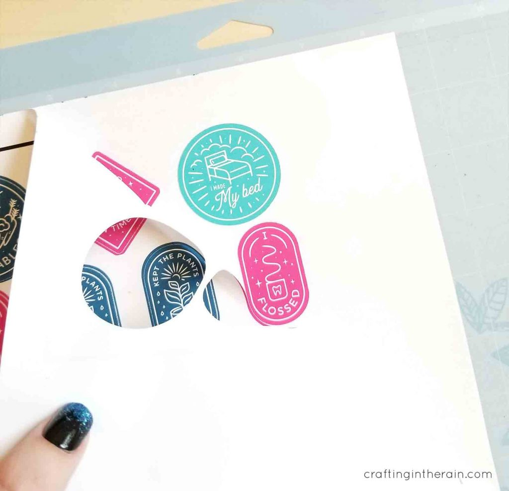 print then cut planner stickers