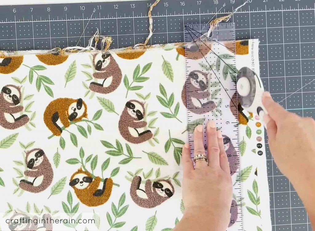 Sloth flannel fabric