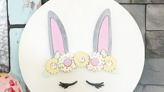 Wood Bunny Sign Spring Decor