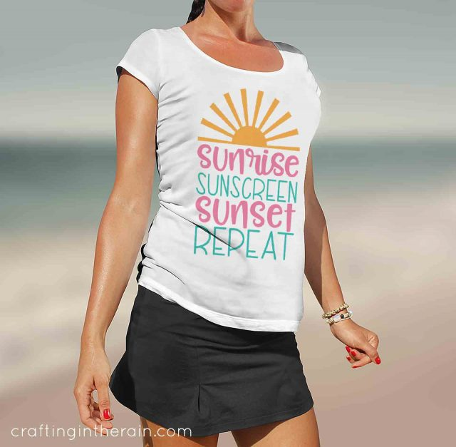 sunrise sunscreen sunset repeat shirt