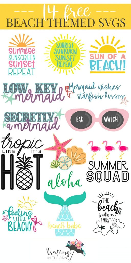 Beach SVG free files