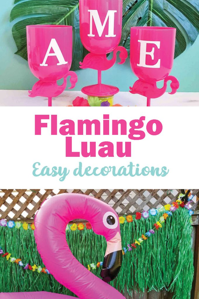 Easy flamingo party decor