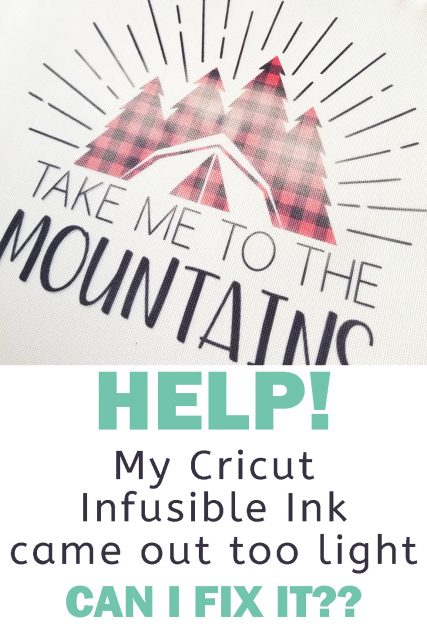 fix cricut infusible ink