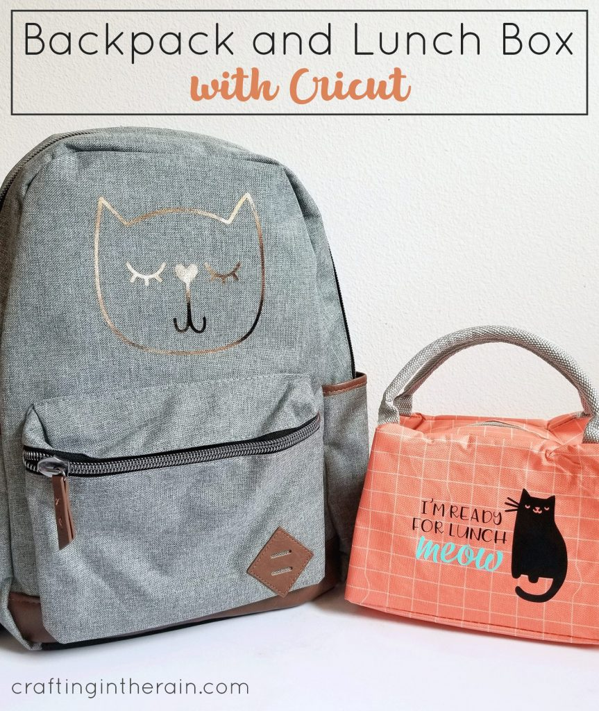 backpack and lunchbox with cricut