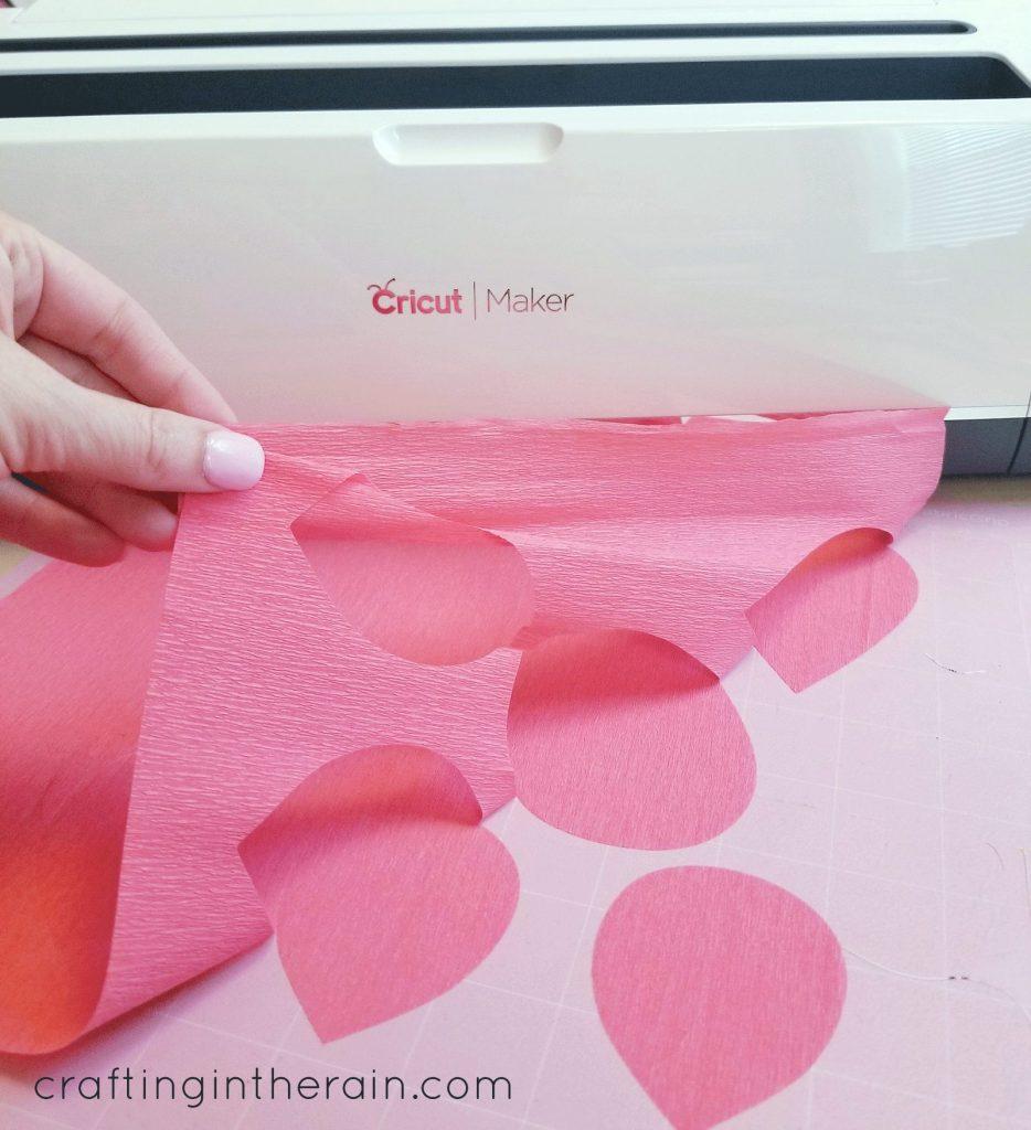 Cricut crepe paper fabric mat