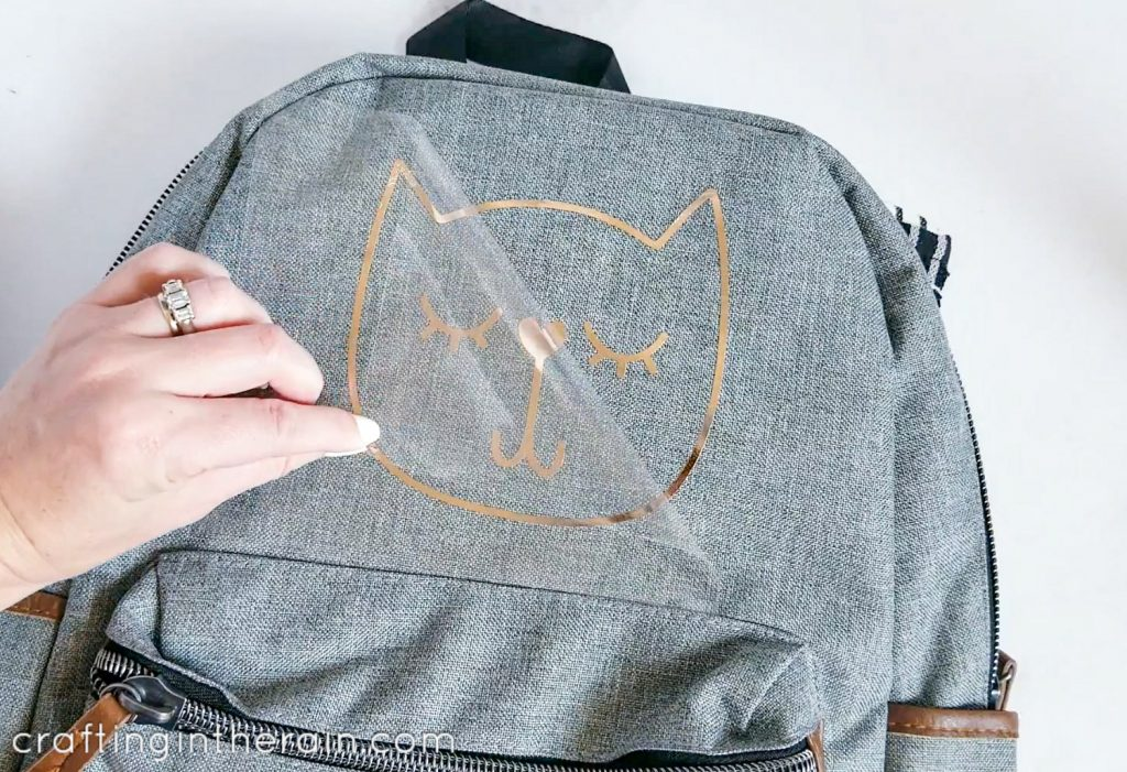 DIY cat backpack Cricut
