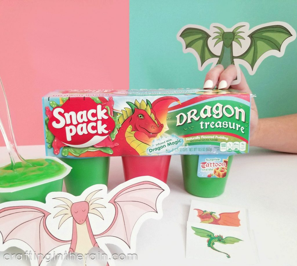 Dragon snack pack pudding