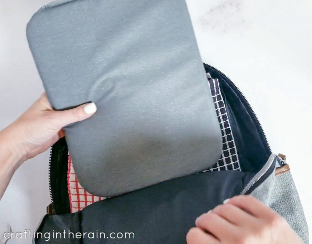 How to add iron on to backpack