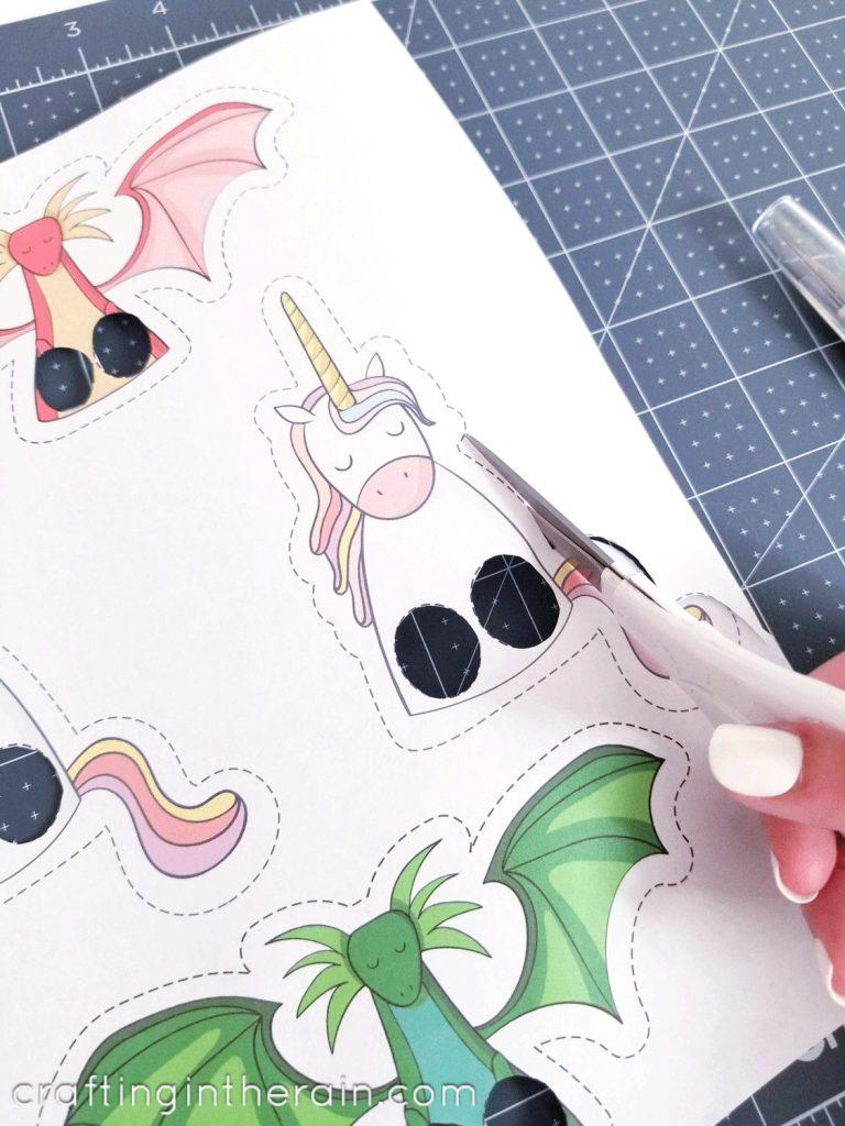 Printable unicorn pupper