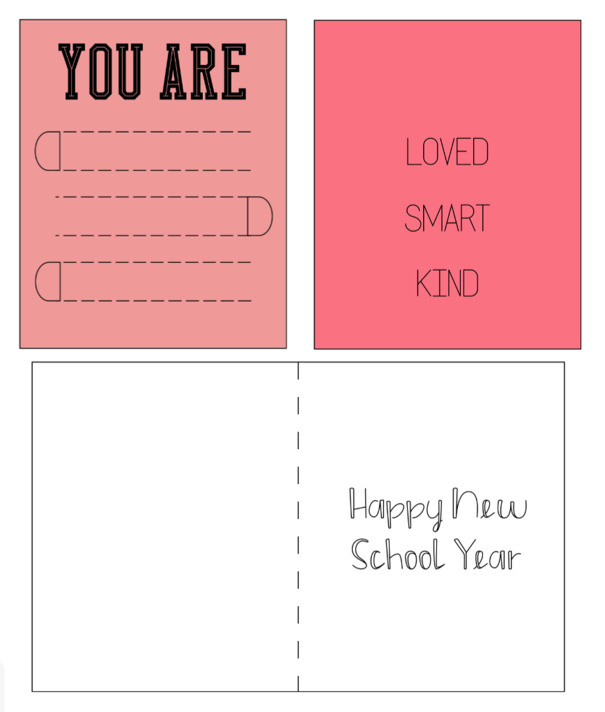 Cricut perforation card