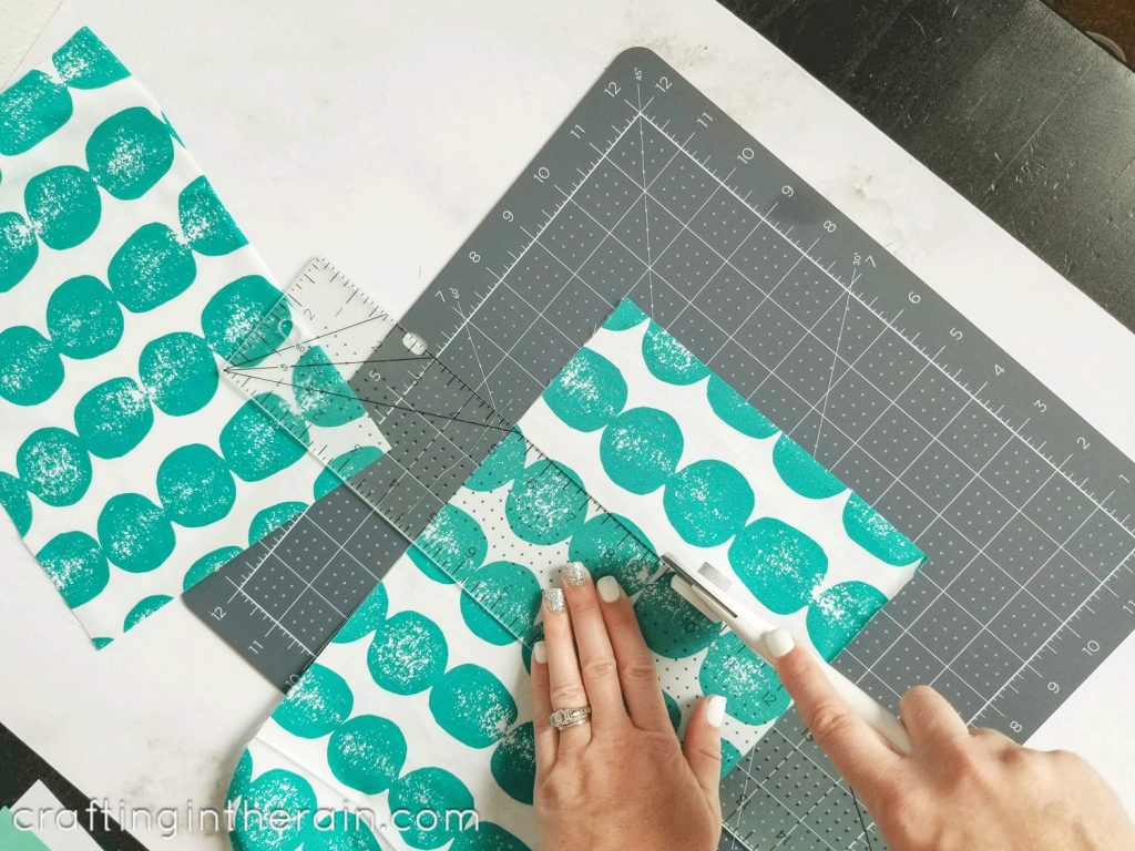 Cut fabric Cricut healing mat
