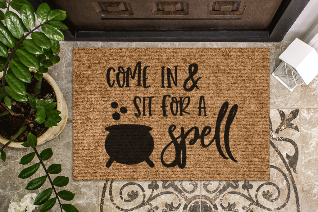 DIY Halloween doormat