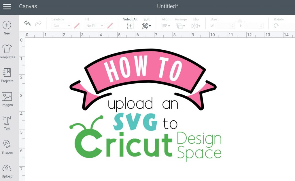 How to upload SVG to Cricut Design Space