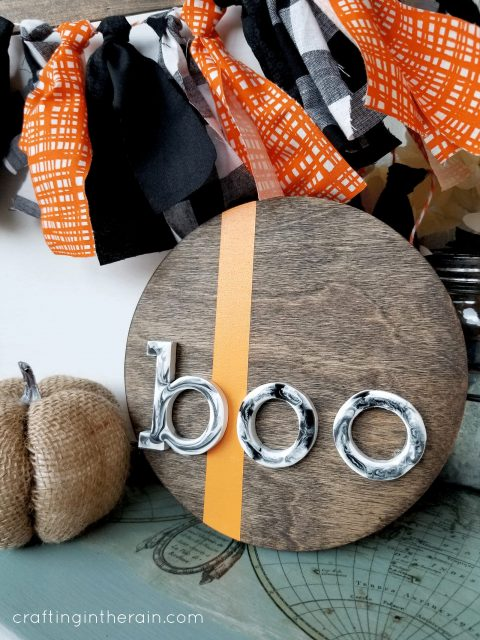 Boo resin sign