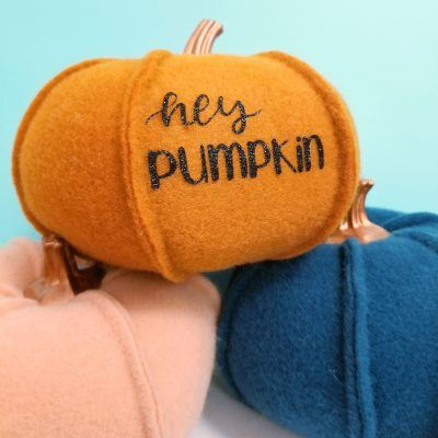 Vinyl on Felt Pumpkin