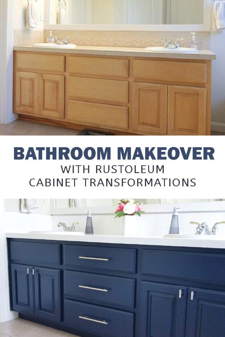 Rust Oleum Cabinet Transformation Bathroom Crafting In The Rain