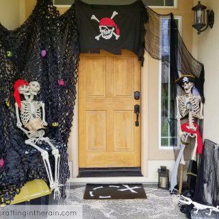pirate skeleton Halloween decoration