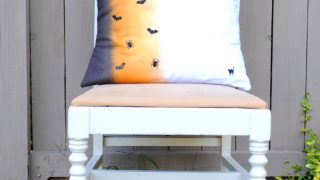Ombre Halloween Pillow with RIT Dye