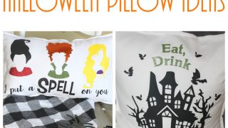 DIY Halloween Pillow Ideas with SVG Cut Files