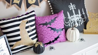 Halloween Make-a-palooza DIY Pillows Cricut Maker
