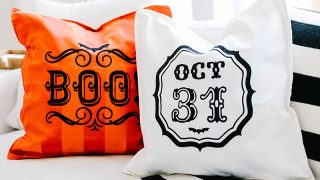 Halloween Pillows with your Cricut!