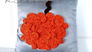 Rosette Pumpkin Pillow {Tutorial}