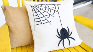 DIY Halloween Pillow with a Spider