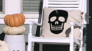 DIY Creepy Skeleton Pillows | Tauni Everett
