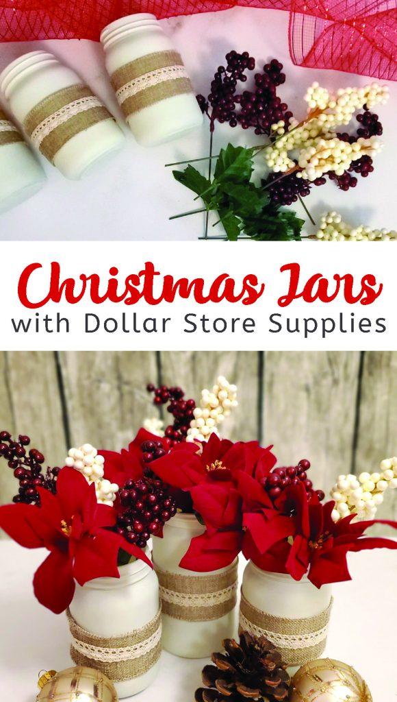 Dollar store Christmas jars
