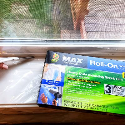 Duck brand roll on window film