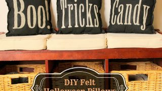 DIY Felt Halloween Pillows