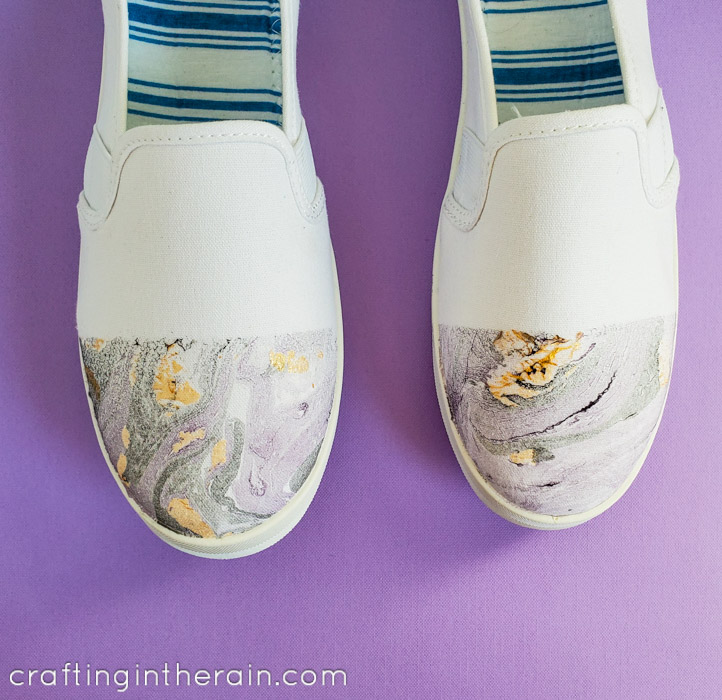 Easy Marble shoes tutorial