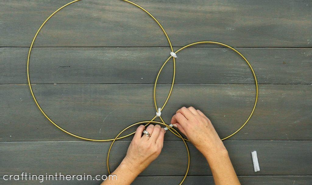 hoop wreath hanging