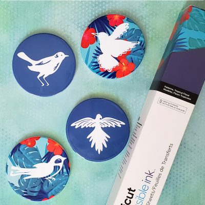 Bird Coasters with Cricut Infusible Ink and Explore Air 2