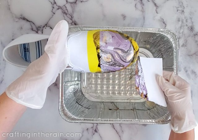 How to marble paint shoes
