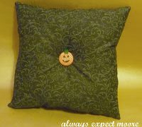 Pumpkin Week – Little Pumpkin Pillow