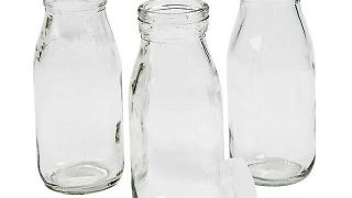 Clear Glass Milk Bottles