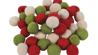 Christmas Wool Felt Pom-Poms